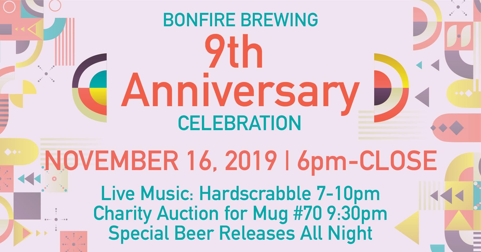 bonfire brewery 9th year anniversary
