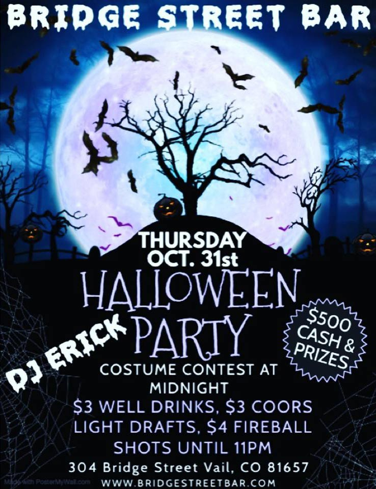 halloween at bridge street bar vail